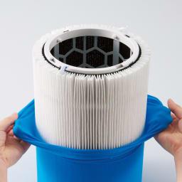 ブルーエア 空気清浄機 ファブリックタイプのプレフィルターは汚れが気になったら水洗いすればOK。