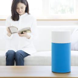 ブルーエア 空気清浄機 弱モードにすれば読書をしながらでも、寝室でも気にならない程度の静かさ。でもしっかり空気はきれいにします。