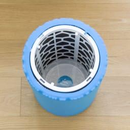 ブルーエア 空気清浄機 交換用フィルター 上から見たイメージ。活性炭シートとフィルターの二重構造でニオイと空気の汚れをいっかり除去。