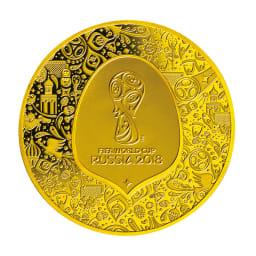 FIFAワールドカップロシア大会公式記念コイン 金貨3種セット フランス50ユーロ金貨 裏面