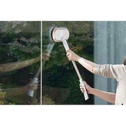 コードレス回転モップクリーナーNeo プレミアムセット(パッド計6枚) 窓の掃除に!