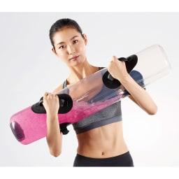 タイカンストリーム アドバンス / TAIKAN STREAM ADVANCE 本体を持つ、抱えるだけでもトレーニングになりますが、さらに持ち上げる、振る、倒す、回すといった動きで体幹のインナーマッスル、アウターマッスルを鍛えます。