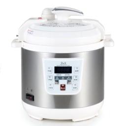 コンパクト電気圧力鍋 2.5L ガラスふた付き ○火を使わないから火加減不要!キッチンに居る必要もありません。○とにかく簡単!ボタンを押すだけで、本格圧力調理が自動でできます。