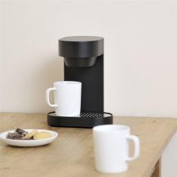 ±0/プラスマイナスゼロ コーヒーメ-カー 2カップ 2カップのコーヒーが約6分で抽出可能。