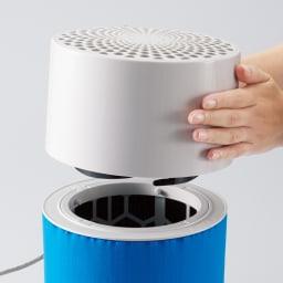 ブルーエア 空気清浄機 交換用フィルター お手入れもラクチン! メインフィルターは約6ヶ月に1度の交換でOK。プレフィルターは汚れたら水洗いするだけ。