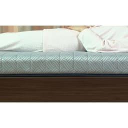 FranceBed/フランスベッド エアリーフォース(シングル) 中の特殊スプリングが重い腰もしっかり支えてくえるので、体への負担を軽減してくれます。