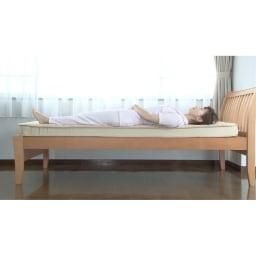 西川 キューブフロートマットレス(シングル) このマットレスなら体全体をバランスよく支えて、隙間を埋めるようにフィット。体への負担が少ない。