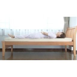 西川 キューブフロートマットレス(シングル) また高反発で硬いマットレスは腰に隙間ができる。