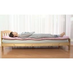 柄任せ 3層構造こだわり敷布団(ダブル) ふっかふかの寝心地なのに、腰や背中もしっかりサポート。