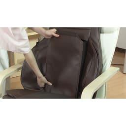 3Dメディカルシート ペルソナ 付属の緩衝シートを背中に付ければもみ心地の強さを調整できます