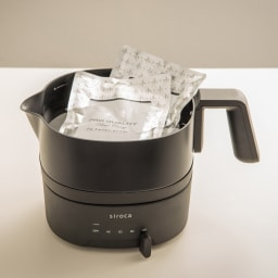 おりょうりケトル ちょいなべ [調理例] レトルト湯せん