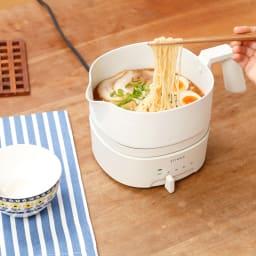 おりょうりケトル ちょいなべ お鍋の形状で、いろんな料理までできちゃうんです!