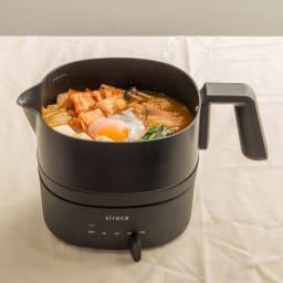 おりょうりケトル ちょいなべ [調理例] 1人鍋