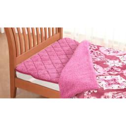 ぽかぽか毛布仕立ての布団カバー(シングル) (ア)ピンク系 ※敷きパッドは別売りです