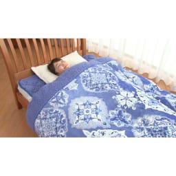 布団の老舗・西川 毛布仕立て布団カバー(セミダブル) ※敷きパッドは別売りです