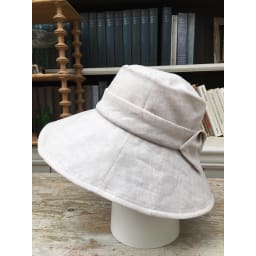 ベル・モード フレンチリネンUVケア帽子 (ウ)ナチュラル…リネンならではの優しい柔らかな風合いのナチュラル。