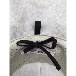 ベル・モード フレンチリネンUVケア帽子 ワンサイズですが、内側のひもを引くことでサイズが調整できます。
