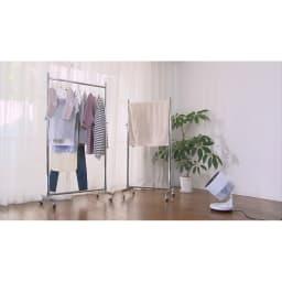 3Dサーキュレーター デュアルウインド 「衣類乾燥モード」ではサーキュレーターの「強い風」+「温風」で素早く衣類を乾燥できます。