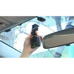 後方カメラ付きドライブレコーダー 前方カメラはフロントガラスの上部20%範囲内に取り付けてください。(※取扱説明書にしたがって正しく取り付けてください)