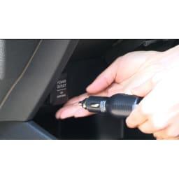 後方カメラ付きドライブレコーダー 電源はシガーソケットから取れます。(※シガーソケットの形状(外国車等)によっては使用できない場合があります。)