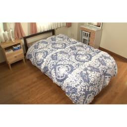 エアリーダウン掛け布団(シングル) (イ)ブルー…イタリアンテイストのおしゃれなカラーもインテリアによく似合います。