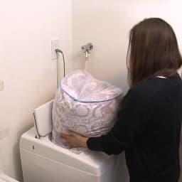 エアリーダウン掛け布団(シングル) 自宅で洗える…洗濯機で丸洗い可能(※ネット使用 ※布団をご家庭で洗濯する際は必ずお手持ちの洗濯機の説明書をご覧ください。)