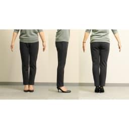 ARIKI あったか大人パンツ 【番組スタッフが実際にはいてみました】身長158cm(着用サイズ:M|普段のボトムスサイズ:S or M)「暖かい!ウエストは全周ゴムなのにボコボコしてなくて良い。薄すぎず厚すぎない生地とつかず離れずのデザインで 脚のラインが出ないのも◎。」※チャコールグレー着用
