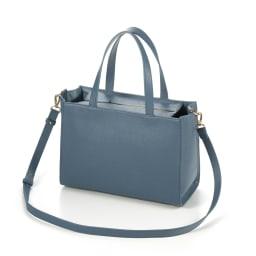 千秋プロデュース 15ポケット トートバッグ 長さが調節できるショルダーストラップ付き。 (ウ)ブルージーン