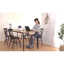 リフレキュット 1回15分の美脚ケア♪ずっと座っているとパンパン脚にもなりやすい…。テレワーク中でも「ながらケア」ができるのが嬉しい!