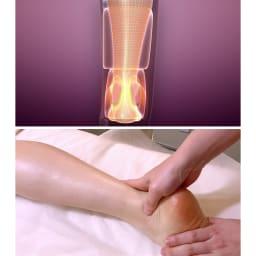 リフレキュット 【足首パッド内蔵】美脚に見えるのに重要なのは「足首」。足首周りのパッドでしっかり圧をかけてグッと上に送り出すことで、気になる足首のブヨブヨをケア。
