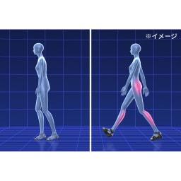 美人ぐせサンダル スタイルアッププラス 履いて歩くことで脚やお尻の筋肉が使われやすくなり、実際にスリムが目指せます。