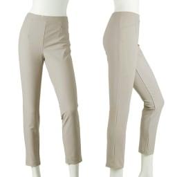 ARIKI 大人フィットパンツ (イ)ライトベージュ…白よりなじみ良く 履きやすいかも♪合せるトップスの色も選びません。