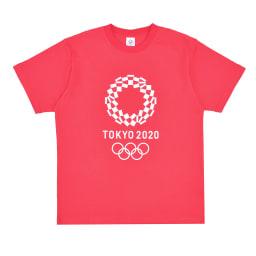 エンブレムプリント Tシャツ YO-20(東京2020 オリンピックエンブレム) (ア)レッド