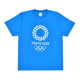 エンブレムプリント Tシャツ YO-20(東京2020 オリンピックエンブレム) (オ)ブルー
