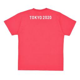 エンブレムプリント Tシャツ YO-20(東京2020 オリンピックエンブレム) (ア)レッド BACK
