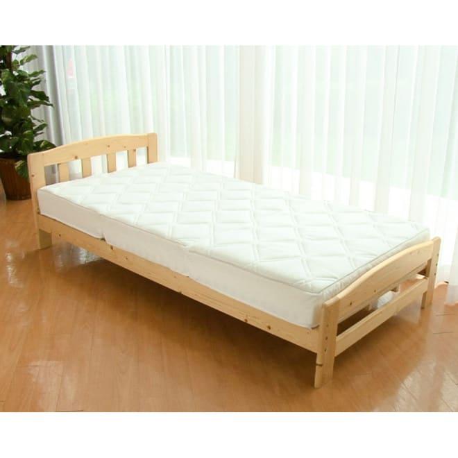 ブレスエアー(R)使用 ブレスウェーブマットレス(シングル) ベッドユーザーにおすすめ!あの「ブレスエアー(R)」を使ったベッドマットレスが遂に誕生!体への負担を軽減する「ブレスエアー(R)」の良さはそのままに、包み込まれるような寝心地を追求しました!