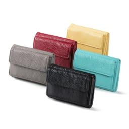 千秋プロデュース ミニ財布 今注目のコンパクトな三つ折り財布。「12ポケットバッグ」と素材、色が同じで、お揃いで使えます。