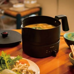 おりょうりケトル ちょいなべ 1台あれば、「湯沸かし」から「お手軽料理」までマルチに活躍!「電気ケトル」+「お鍋」=『ちょいなべ』