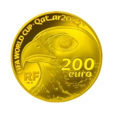 FIFAワールドカップカタール2022公式記念コイン フランス200ユーロ金貨