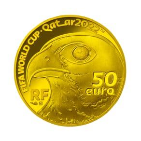 FIFAワールドカップカタール2022公式記念コイン フランス 50ユーロ金貨 写真
