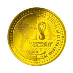 FIFAワールドカップカタール2022公式記念コイン パラグアイ 1500グアラニー金貨 写真
