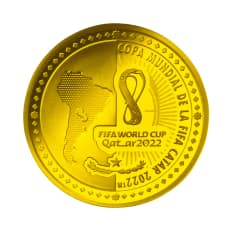 FIFAワールドカップカタール2022公式記念コイン パラグアイ 1500グアラニー金貨
