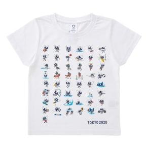 KIDS 全競技ポーズプリント Tシャツ YO-264(東京2020オリンピックマスコット) 写真