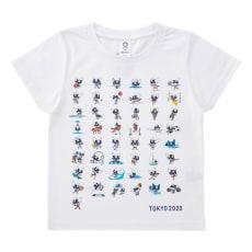 KIDS 全競技ポーズプリント Tシャツ YO-264(東京2020オリンピックマスコット)