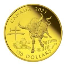丑年記念コイン 150カナダドル金貨