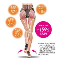 スリムコーチ エクササイズローファー 履いて歩くことで消費カロリー・筋活動量がアップしたというデータも! ※数値は被験者の平均値です