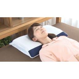 TBC エステナイトピロー お得な2個組 ★TBCだからこそ!こだわったポイント★<br>寝ている間の顔周りもすっきり!首にシワが寄りにくい高さにこだわりました