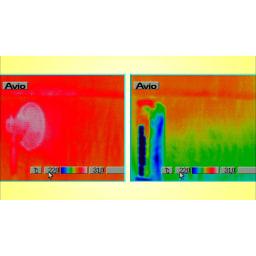 クーリングファン 冷風扇 扇風機と比較してもその差は一目瞭然!(※)メーカー自社比較。この状態が持続するものではありません。