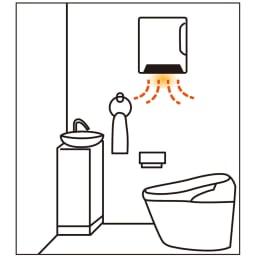 人感センサー付 壁掛け脱衣所ヒーター トイレにおすすめ。