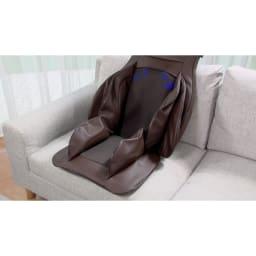 3Dメディカルシート ペルソナ 「首・肩」「背中」「腰」「骨盤周り」「太もも裏」の5カ所を同時にマッサージ可能。
